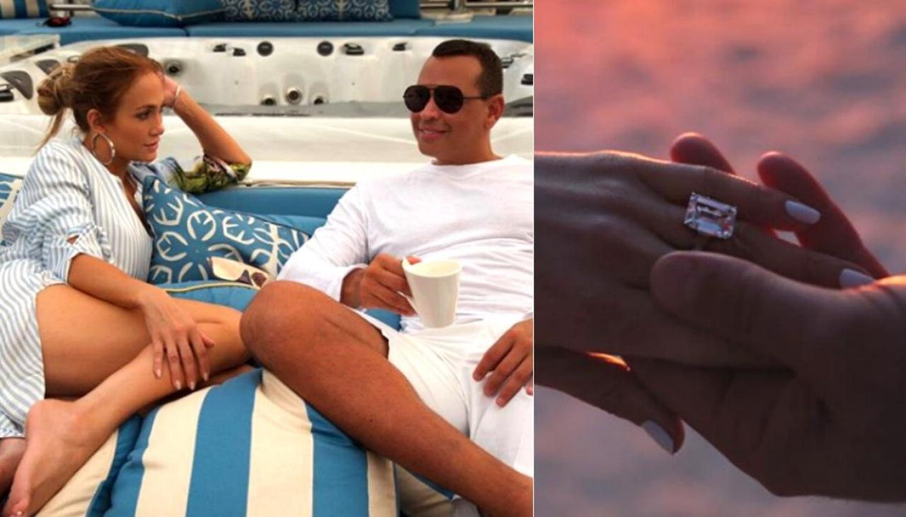 Jennifer Lopez gets giant diamond ring in engagement to ...