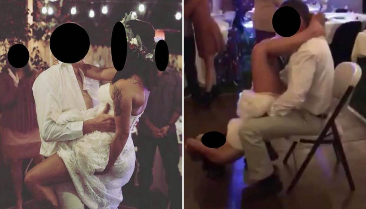Wedding horror as bride gives groom a lap dance to Ginuine's 'Pony'