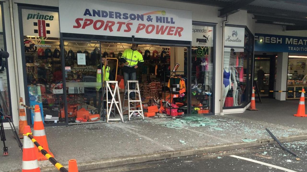 53827c257c1881 Smash-and-grab at Christchurch sports store