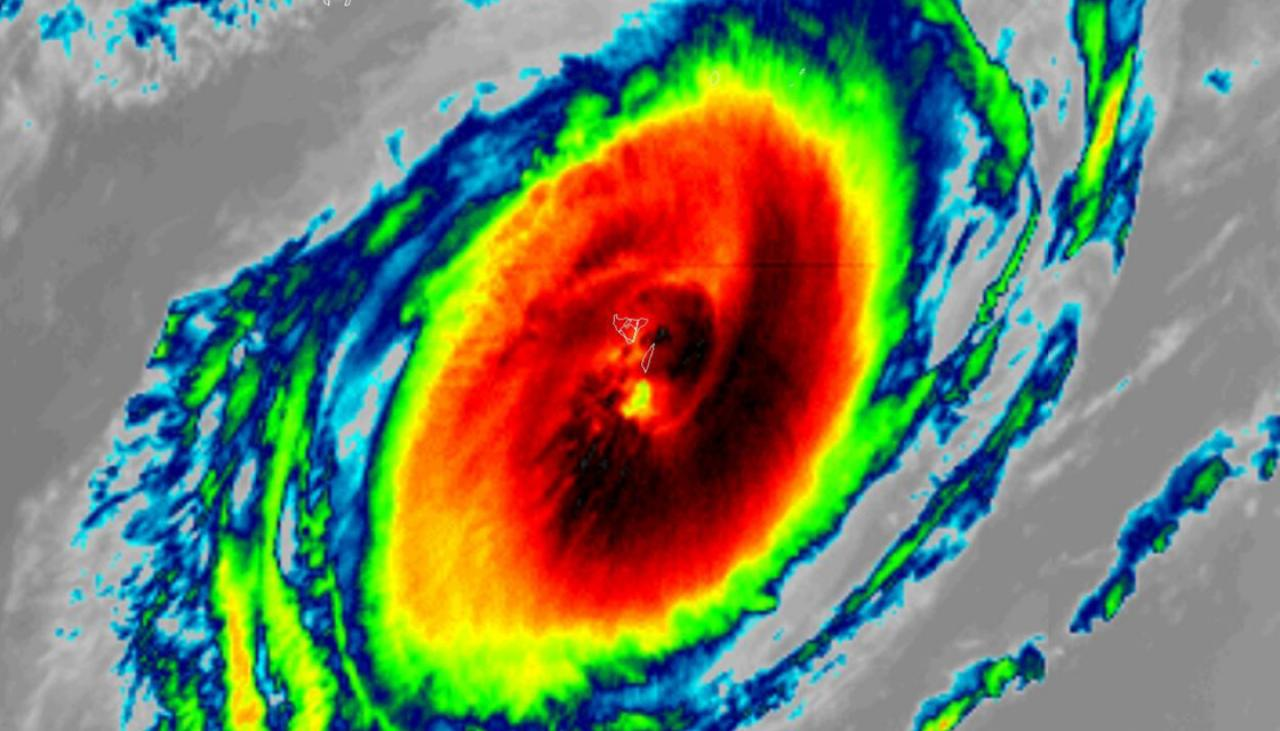 Cyclone Gita S Eye Grows Even Larger Now Over 100km Wide