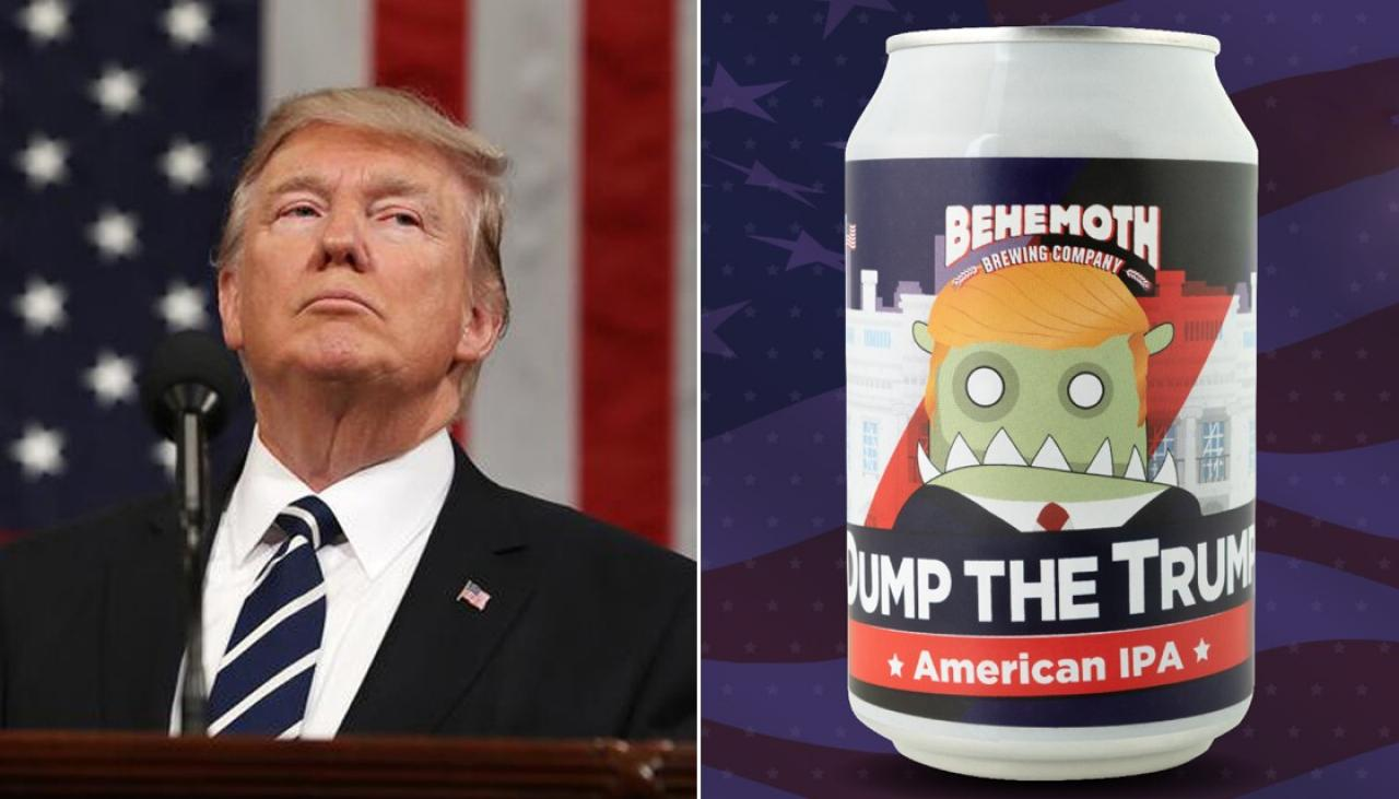 Nz Craft Brewery Attacked By Trump Supporters Newshub