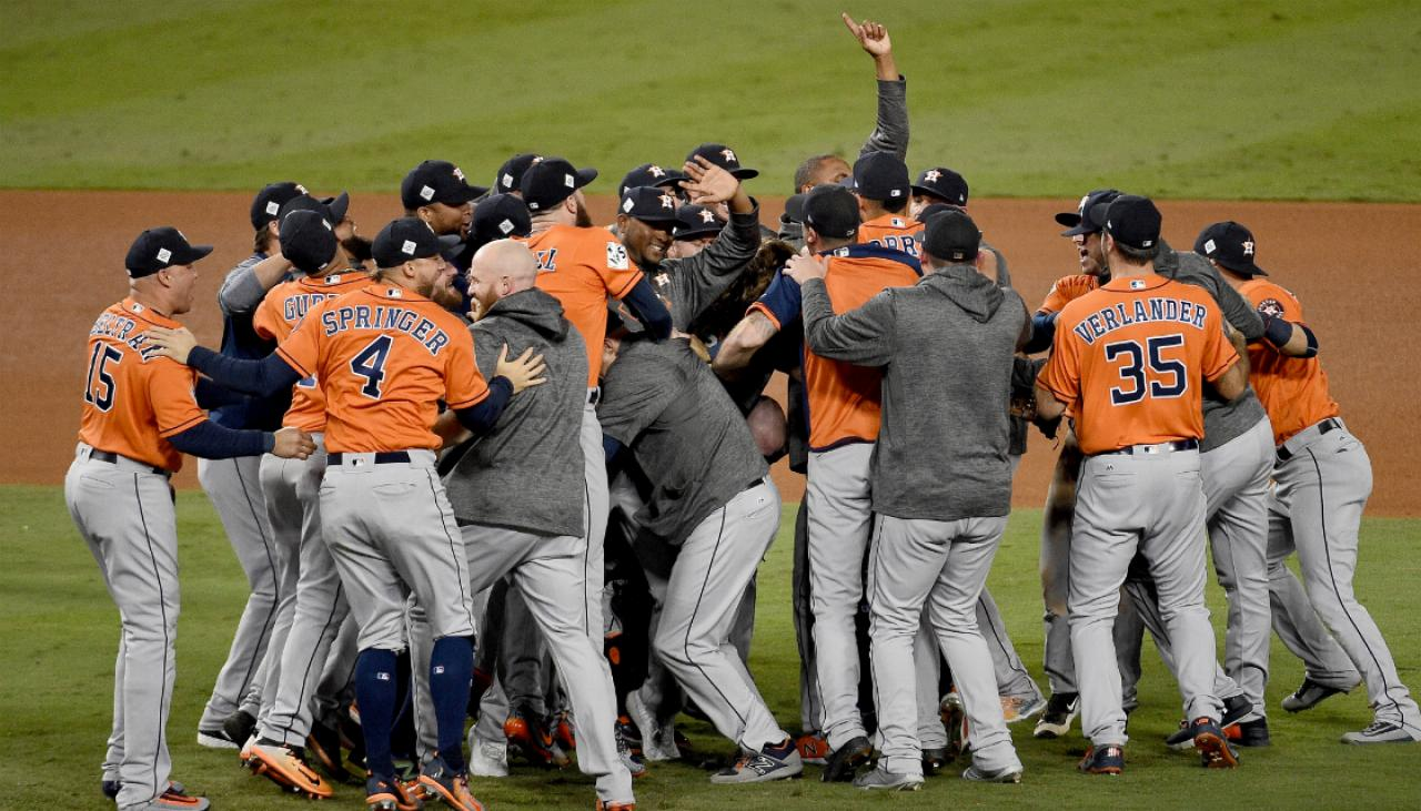 houston astros beat los angeles dodgers  game   win  world series title newshub