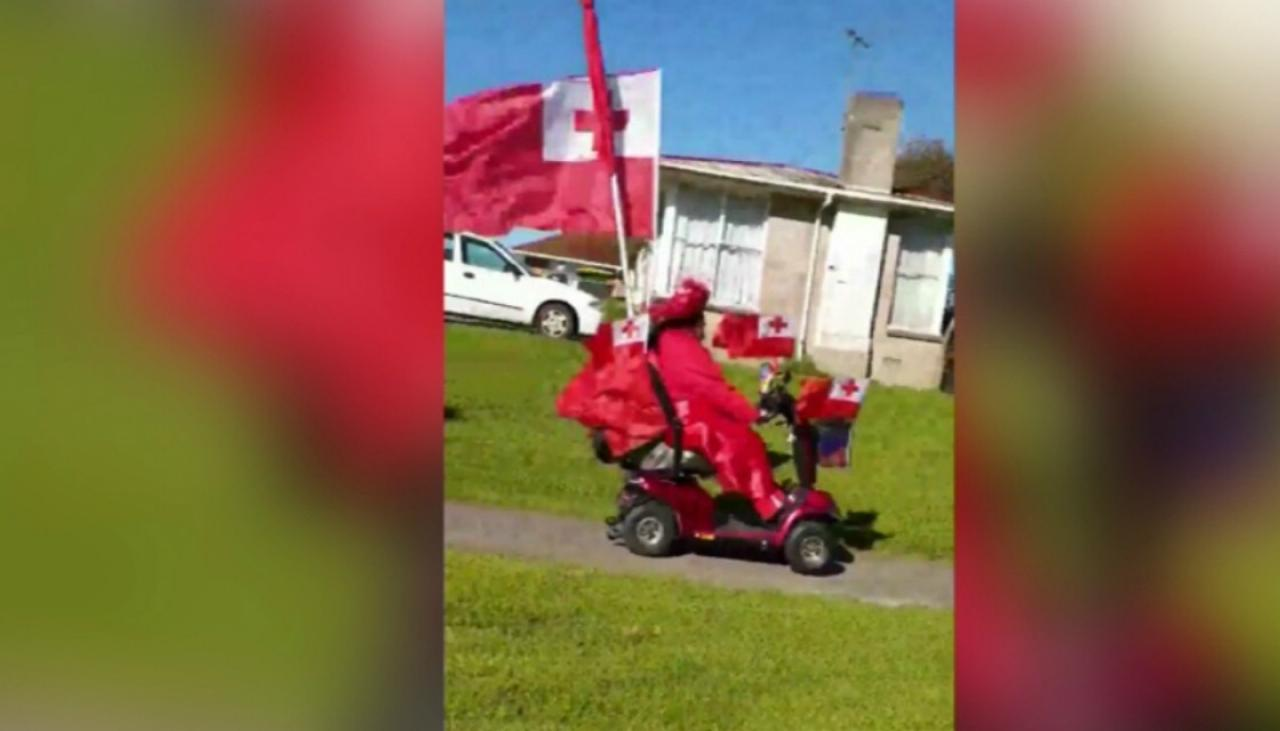 Tongan Fan Covers Mobility Scooter In Team S Flags Newshub