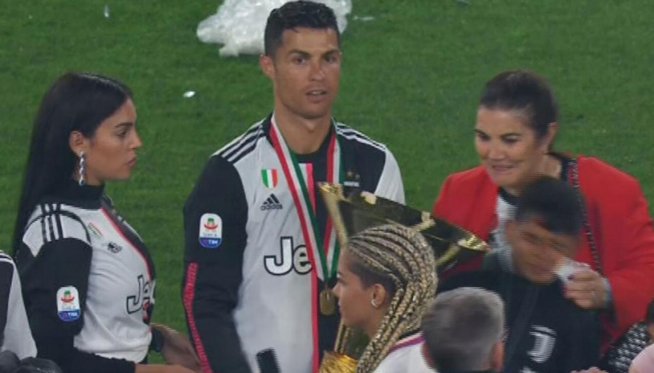 Serie A: Football: Cristiano Ronaldo Hits Son And Girlfriend With