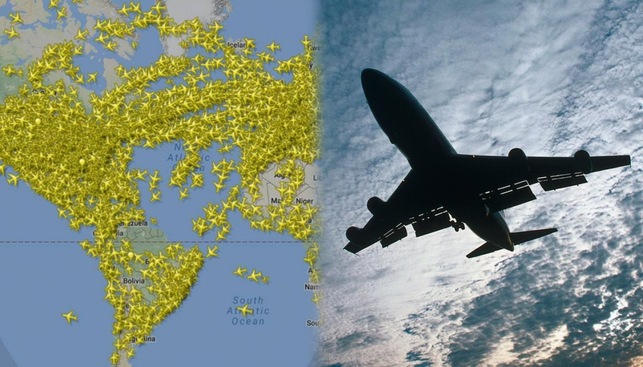 Record number of planes in the air at once | Newshub