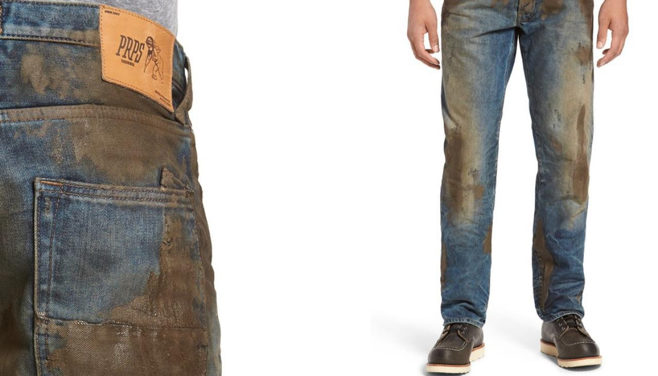 Nordstrom's $425 'mud-caked' jeans are the funniest thing you'll ...